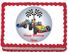 Load image into Gallery viewer, Roadster Racers Mickey & Donald Edible Cake, Cupcake & Cookie Topper - Trish Gayle