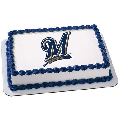 Milwaukee Brewers Logo Edible Cake, Cupcake & Cookie Topper - Trish Gayle