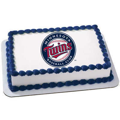 Minnesota Twins Logo Edible Cake, Cupcake & Cookie Topper - Trish Gayle