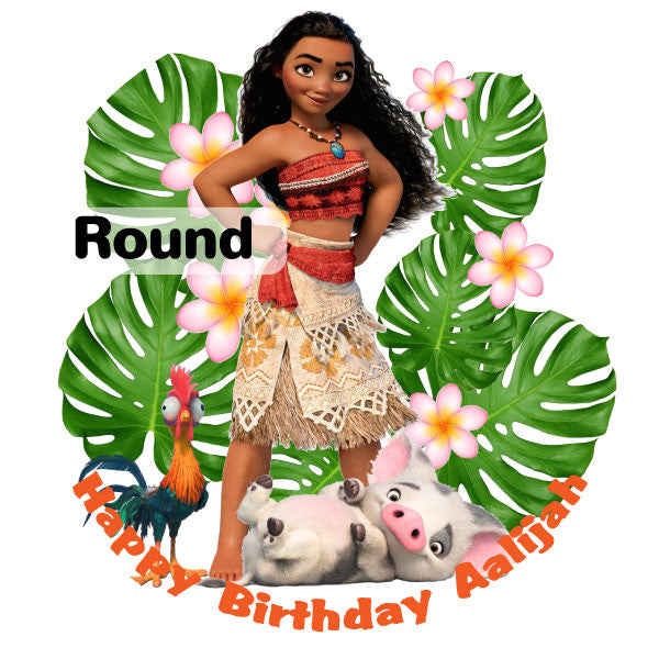 Moana and Friends Edible Cake, Cupcake & Cookie Topper ...