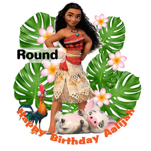 Moana and Friends Edible Cake, Cupcake & Cookie Topper - Trish Gayle