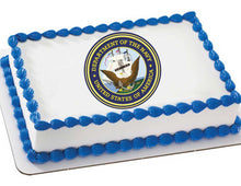 Load image into Gallery viewer, Navy Edible Cake, Cupcake & Cookie Topper - Trish Gayle
