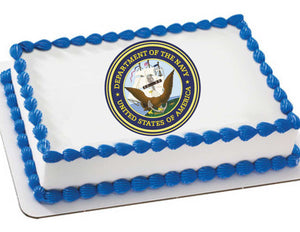 Navy Edible Cake, Cupcake & Cookie Topper - Trish Gayle