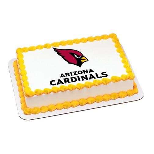 Arizona Cardinals NFL Edible Cake, Cupcake & Cookie Topper - Trish Gayle