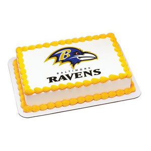 Baltimore Ravens NFL Edible Cake, Cupcake & Cookie Topper - Trish Gayle