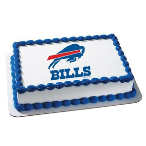 Buffalo Bills Logo Edible Cake, Cupcake & Cookie Topper - Trish Gayle