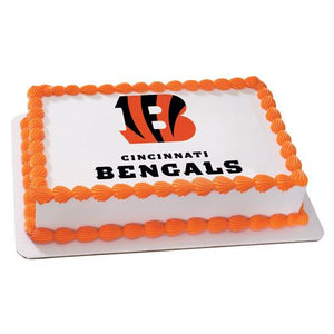 Cincinnati Bengals Logo Edible Cake, Cupcake & Cookie Topper - Trish Gayle