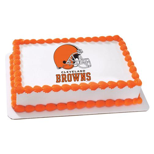 Cleveland Browns Logo Edible Cake, Cupcake & Cookie Topper - Trish Gayle