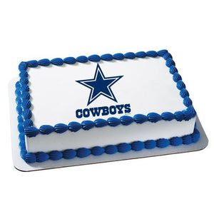 Dallas Cowboys Logo Edible Cake, Cupcake & Cookie Topper - Trish Gayle