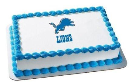 Detroit Lions NFL Edible Cake, Cupcake & Cookie Topper - Trish Gayle