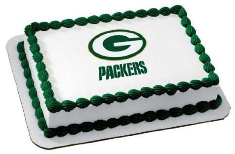 Green Bay Packers NFL Edible Cake, Cupcake & Cookie Topper - Trish Gayle