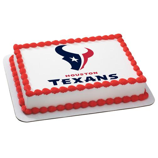 Houston Texans NFL Edible Cake, Cupcake & Cookie Topper - Trish Gayle