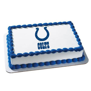 Indianapolis Colts Logo Edible Cake, Cupcake & Cookie Topper - Trish Gayle