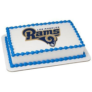 Los Angeles Rams Logo Edible Cake, Cupcake & Cookie Topper - Trish Gayle