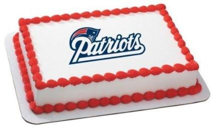 New England Patriots NFL Edible Cake, Cupcake & Cookie Topper - Trish Gayle
