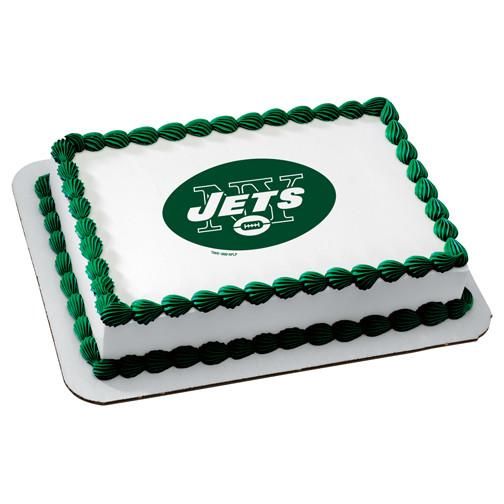 New York Jets Logo Edible Cake, Cupcake & Cookie Topper - Trish Gayle
