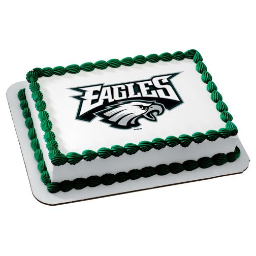 Philadelphia Eagles Logo Edible Cake, Cupcake & Cookie Topper - Trish Gayle