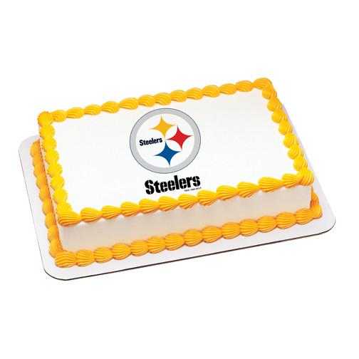 Pittsburgh Steelers Logo Edible Cake, Cupcake & Cookie Topper - Trish Gayle