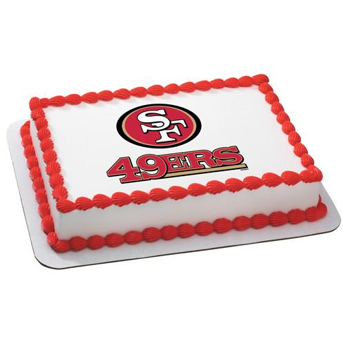 San Francisco 49ers NFL Edible Cake, Cupcake & Cookie Topper