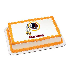 Washington Redskins Logo Edible Cake, Cupcake & Cookie Topper