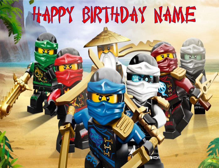 Ninjago Beach Edible Cake Topper - Trish Gayle