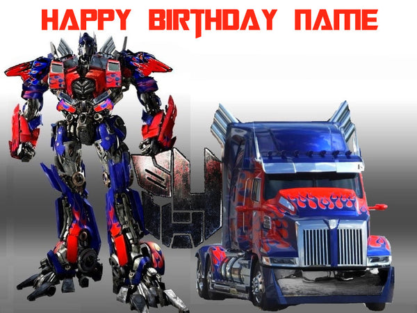 Transformers Optimus Prime Edible Cake Topper - Trish Gayle
