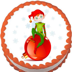 Ornament Elf Christmas Edible Cake, Cupcake & Cookie Topper - Trish Gayle