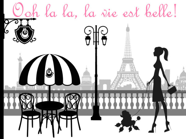 Paris Silhouette Edible Cake, Cupcake & Cookie Topper - Trish Gayle