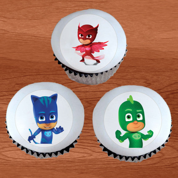 PJ Masks Character Edible Cupcake & Cookie Toppers - Trish Gayle
