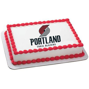 Portland Trailblazers Logo Edible Cake, Cupcake & Cookie Topper - Trish Gayle