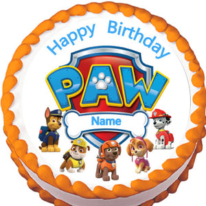 Paw Patrol Characters Edible Cake Topper - Trish Gayle