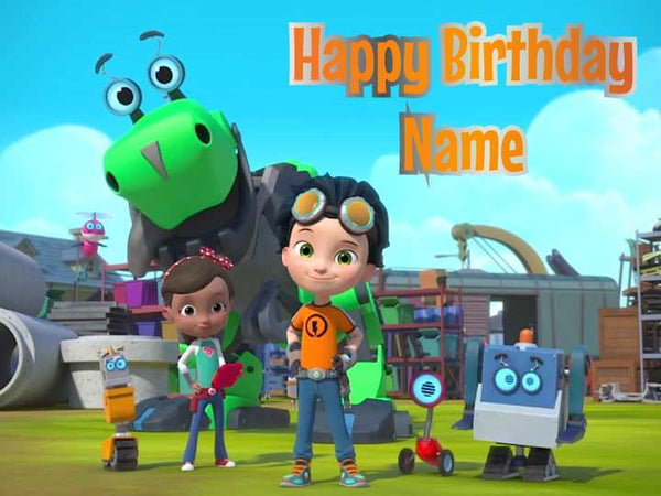 Rusty Rivets Characters Edible Cake, Cupcake & Cookie Topper - Trish Gayle