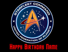 Load image into Gallery viewer, Star Trek Star Fleet Command Edible Cake Topper - Trish Gayle