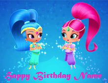 Load image into Gallery viewer, Shimmer & Shine Edible Cake / Cupcake Topper - Trish Gayle