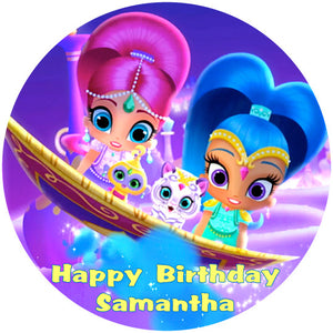 Shimmer & Shine Magic Carpet Edible Cake / Cupcake Topper - Trish Gayle