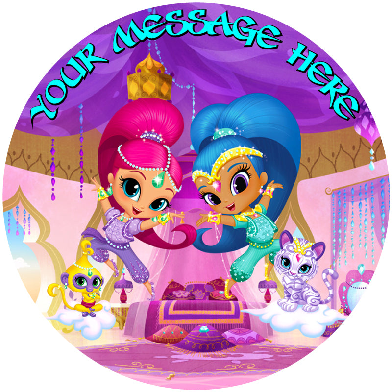 Shimmer & Shine and Pets Edible Cake / Cupcake Topper ...