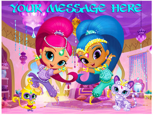 Shimmer & Shine and Pets Edible Cake / Cupcake Topper - Trish Gayle