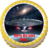 Star Trek Edible Cake Topper - Trish Gayle
