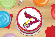 Load image into Gallery viewer, St Louis Cardinals Logo Edible Cake, Cupcake & Cookie Topper - Trish Gayle