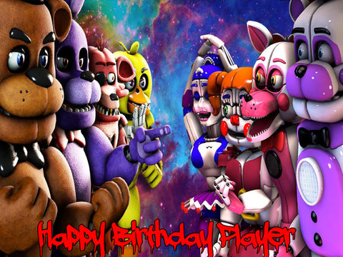 FNAF Five Nights at Freddy's Stand Off Edible Cake Topper - Trish Gayle