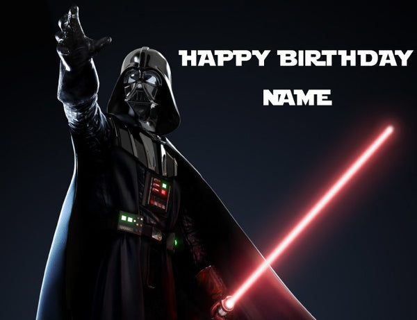 Star Wars Dramatic Darth Vader Edible Cake Topper - Trish Gayle