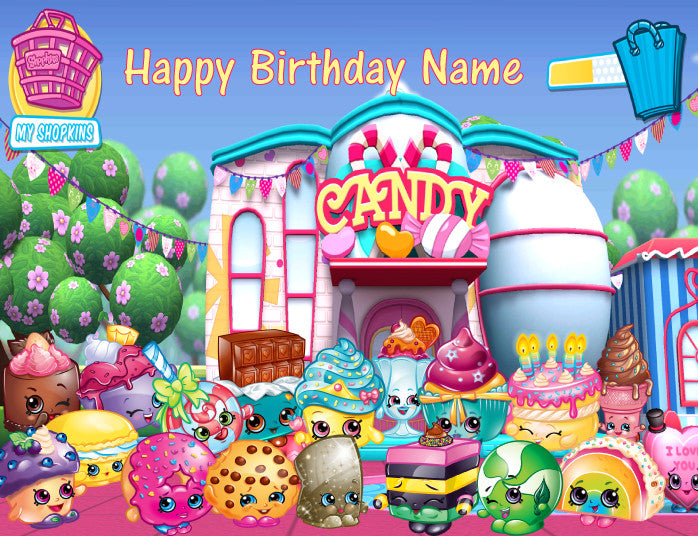 Shopkins Sweet Treats Edible Cake Topper - Trish Gayle