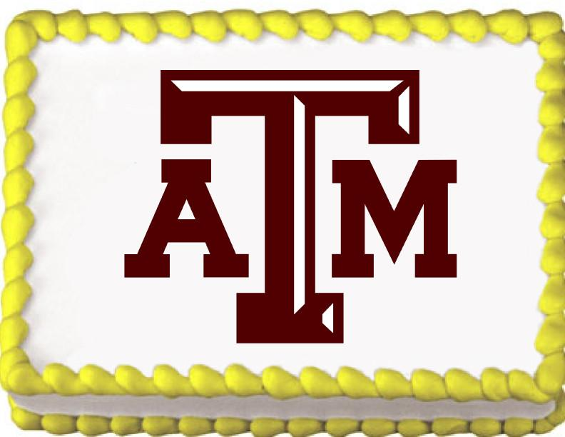 Texas A&M Aggies Edible Cake, Cupcake & Cookie Topper - Trish Gayle