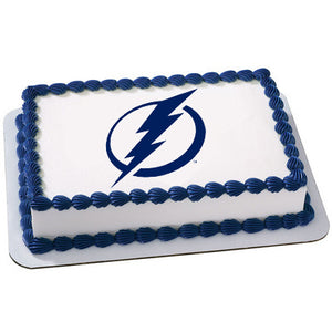 Tampa Bay Lightning Logo Edible Cake, Cupcake & Cookie Topper - Trish Gayle