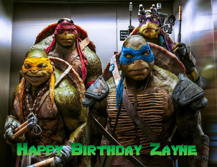 Teenage Mutant Ninja Turtles TMNT Edible Cake Topper - Trish Gayle