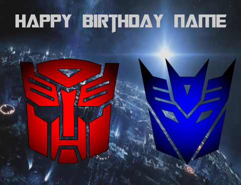Transformers Edible Cake Topper - Trish Gayle