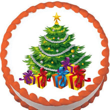 Load image into Gallery viewer, Christmas Tree and Presents Edible Cake, Cupcake & Cookie Topper - Trish Gayle