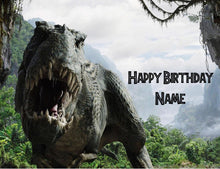 Load image into Gallery viewer, Jurassic Park T-Rex Edible Cake Topper - Trish Gayle