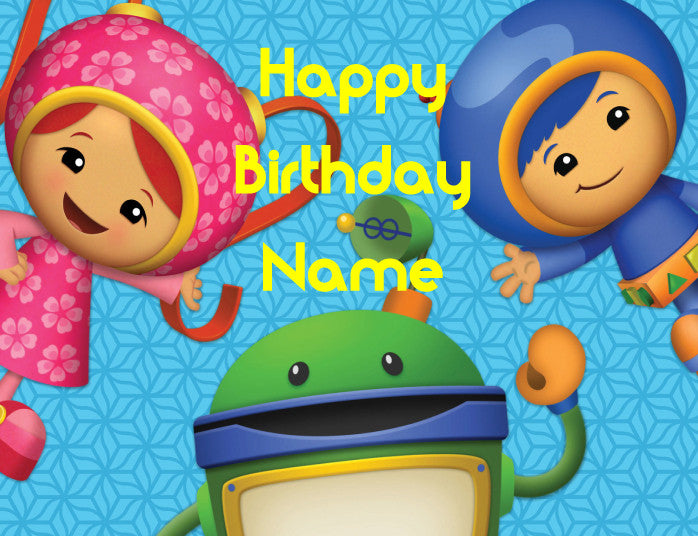 Team Umizoomi Edible Cake, Cupcake & Cookie Topper - Trish Gayle