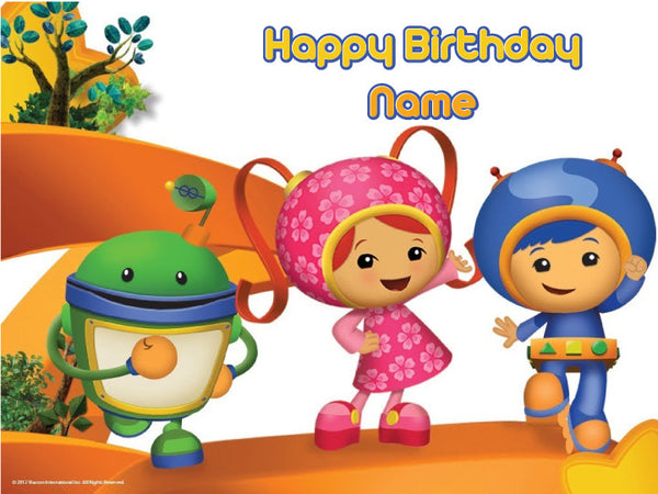Team Umizoomi Season 2 Edible Cake, Cupcake & Cookie Topper